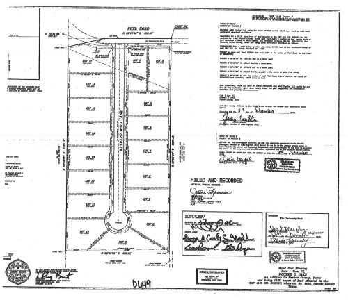 slate real estate double t oaks subdivision survey