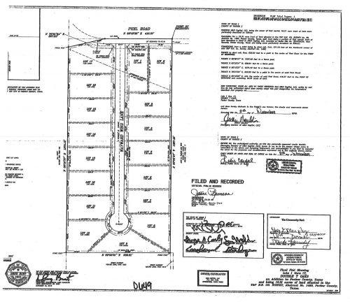 slate real estate double t oaks subdivision survey